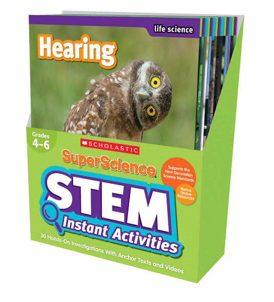 SuperScience STEM Instant Activities: Grades 4-6: 30 Hands-on Investigations With Anchor Texts and Videos Cover