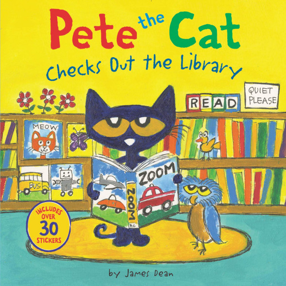 Pete the Cat Checks Out the Library (Pete the Cat) Cover