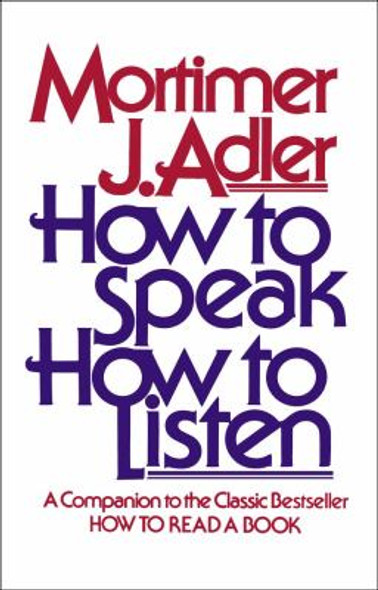 How to Speak How to Listen Cover