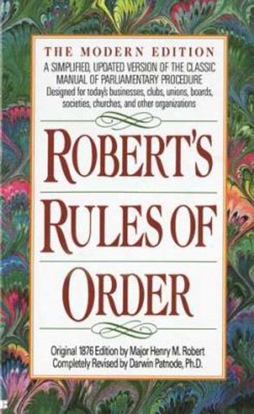 Robert's Rules of Order: The Modern Edition Cover
