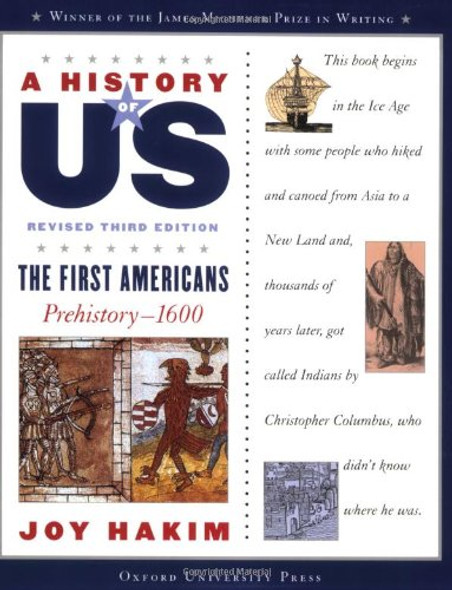 A History of US: The First Americans: Prehistory-1600 A History of US Book One Cover