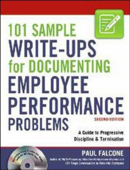 101 Sample Write-Ups for Documenting Employee Performance Problems: A Guide to Progressive Discipline and Termination Cover