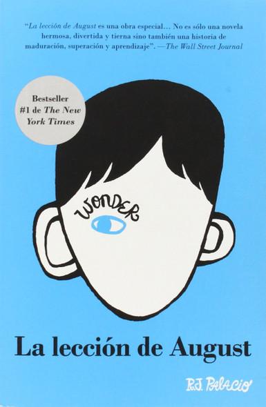 """La lecciŒ""""n de August: Wonder (Spanish Edition) [Paperback] Cover"""
