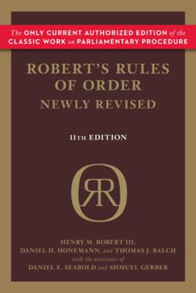 Robert's Rules of Order Newly Revised, 11th Edition [Paperback] Cover