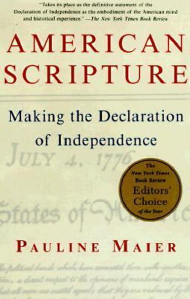 American Scripture: Making the Declaration of Independence Cover