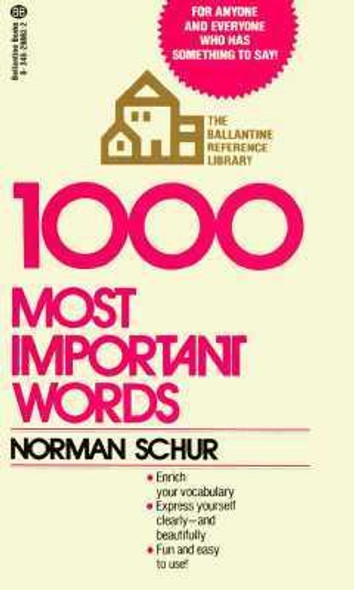 1000 Most Important Words [Mass Market Paperback] Cover