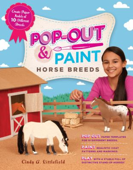 Pop-Out and Paint Horse Breeds: Create Paper Models of 10 Different Breeds [Paperback] Cover