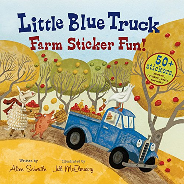 Little Blue Truck Farm Sticker Fun! [Picture Book] Cover