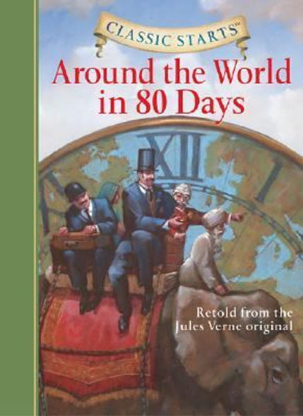 Around the World in 80 Days (Large Print) (Abridged) [Hardcover] Cover