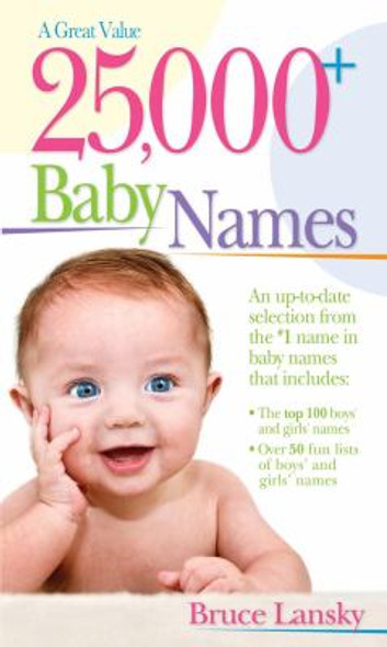 25,000+ Baby Names [Paperback] Cover