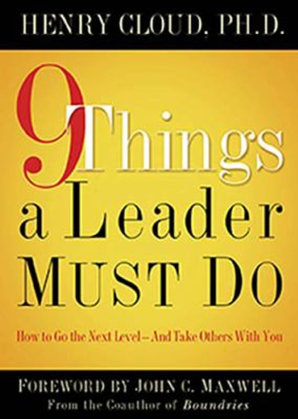 9 Things a Leader Must Do [Hardcover] Cover