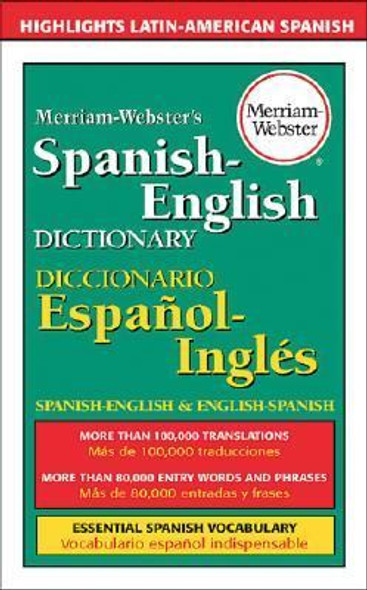 Merriam-Webster's Spanish-English Dictionary (Turtleback School & Library Binding Edition) [Library Binding] Cover