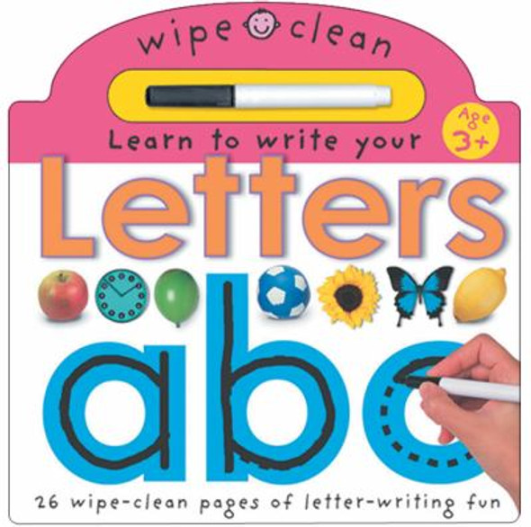Letters abc: 26 Wipe-Clean Pages of Letter-Writing Fun [Hardcover] Cover