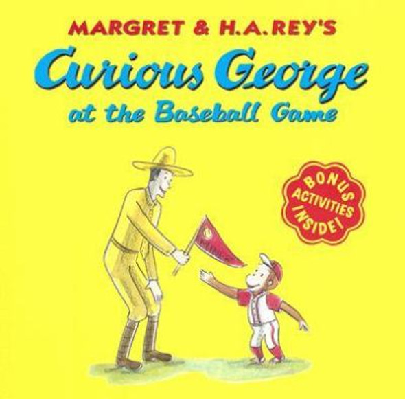 Curious George at the Baseball Game Cover