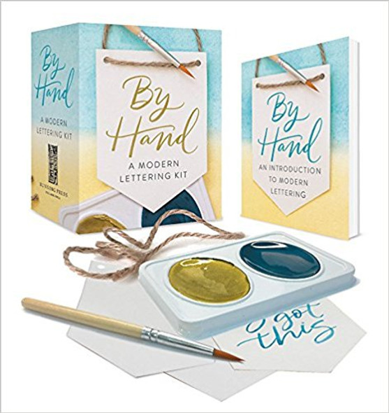By Hand: A Modern Lettering Kit ( Miniature Editions ) [Paperback] Cover