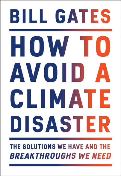 How to Avoid a Climate Disaster - Cover