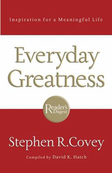 Everyday Greatness: Inspiration for a Meaningful Life Cover