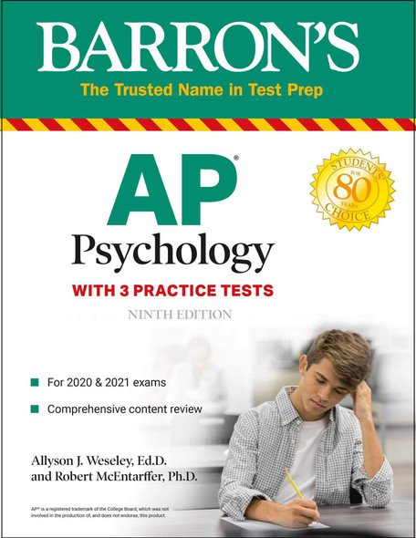 AP Psychology: With 3 Practice Tests - Cover
