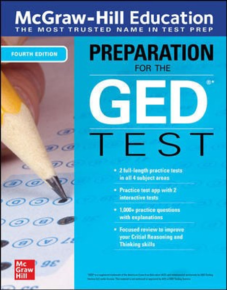McGraw-Hill Education Preparation for the GED Test, Fourth Edition - Cover