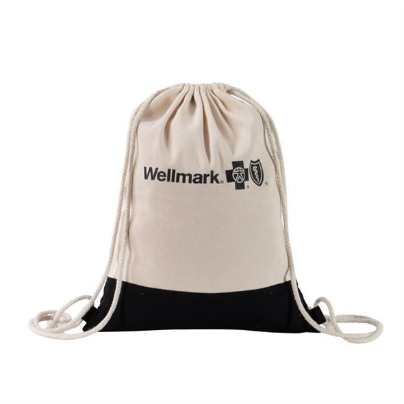 Two Tone Natural Drawstring Backpack