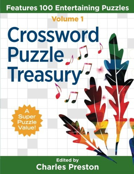 Crossword Puzzle Treasury: Features 100 Entertaining Puzzles - Cover