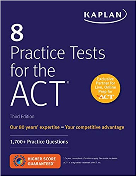 8 Practice Tests for the ACT: 1,700+ Practice Questions - Cover