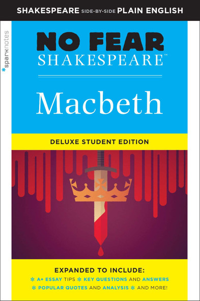Macbeth: No Fear Shakespeare Deluxe Student Edition - Cover