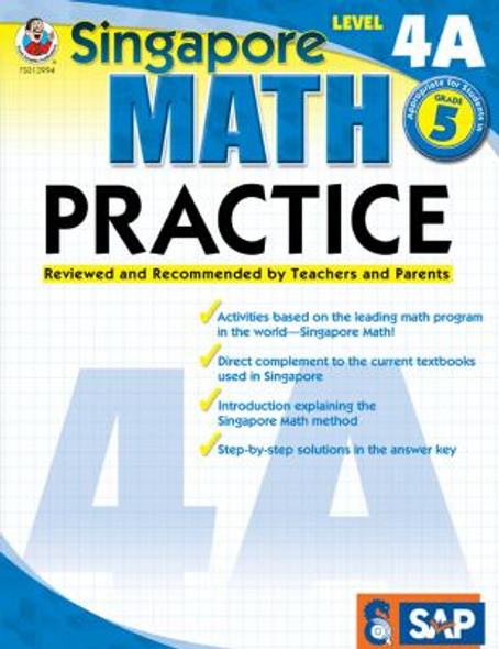 Singapore Math Practice Level 4A, Grade 5 Cover