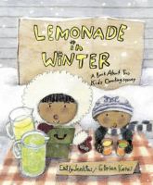Lemonade in Winter: A Book about Two Kids Counting Money Cover