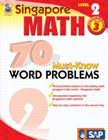 Singapore Math 70 Must-Know Word Problems Level 2, Grade 3 Cover