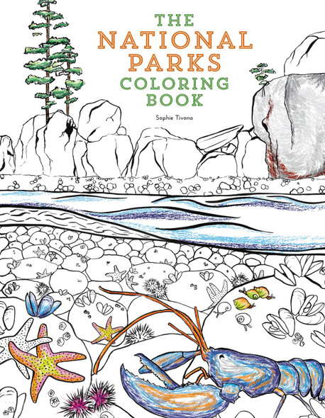 The National Parks Coloring Book Cover