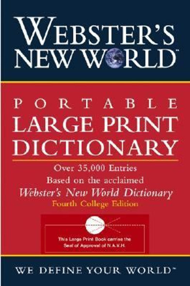 Webster's New World Portable Large Print Dictionary Cover