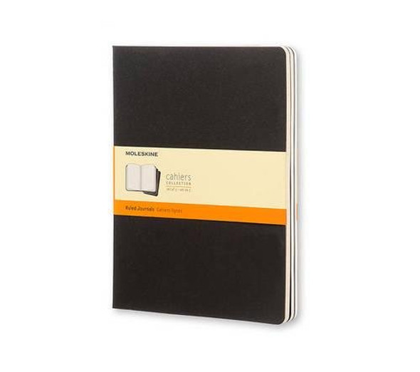 Moleskine Set of 3 Ruled Cahier Journals - Black - Extra Large Cover