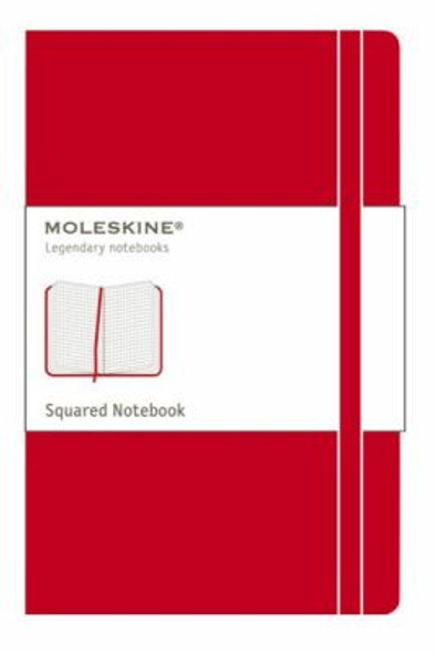 Moleskine Squared Red Notebook - Large Cover