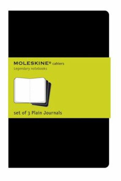 Moleskine Set of 3 Plain Cahier Journals - Black - Pocket Cover