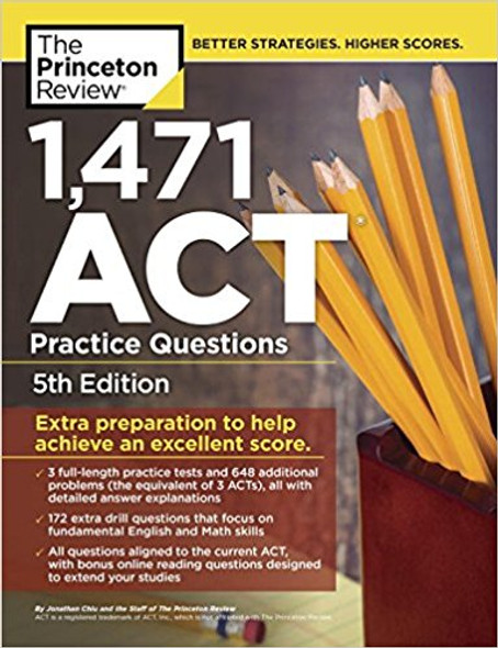 1,471 ACT Practice Questions, 5th Edition: Extra Preparation to Help Achieve an Excellent Score (College Test Preparation) Cover