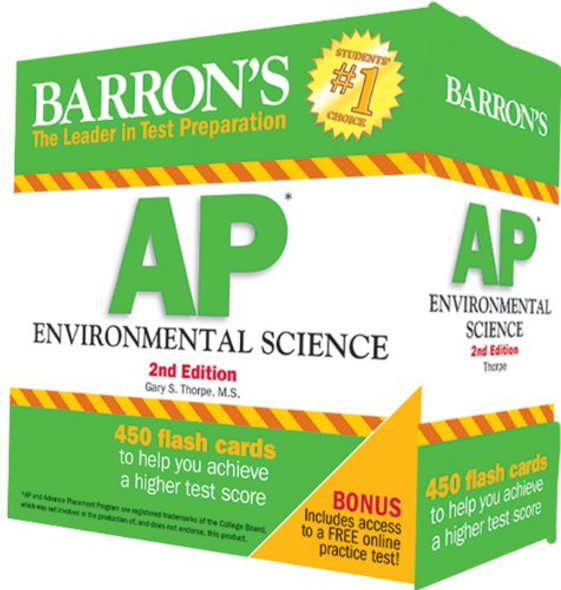 Barron S AP Environmental Science Flash Cards, 2nd Edition Cover