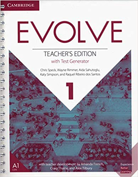Evolve Level 1 Teacher's Edition with Test Generator Cover