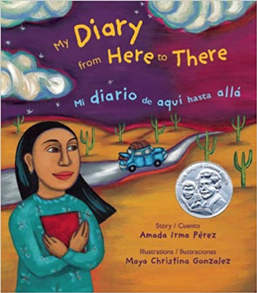My Diary from Here to There: Mi diario de aqui hasta alla (English and Spanish Edition) Cover