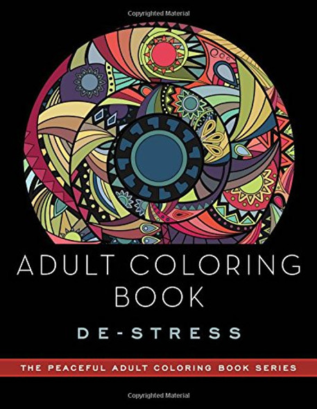 Adult Coloring Book: de-Stress Cover