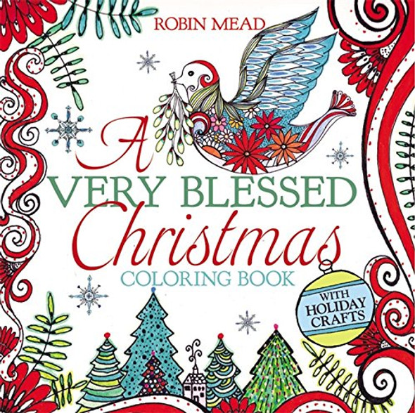 A Very Blessed Christmas Coloring Book Cover