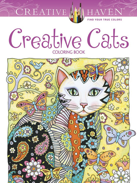 Creative Haven Creative Cats Coloring Book Cover