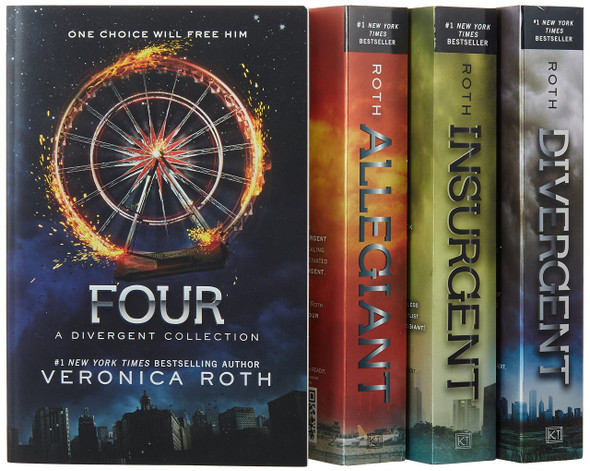 Divergent Series Four-Book Paperback Box Set: Divergent, Insurgent, Allegiant, Four Cover