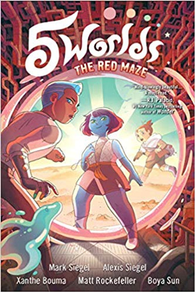 5 Worlds Book 3: The Red Maze Cover