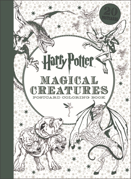 Harry Potter Magical Creatures Postcard Coloring Book Cover