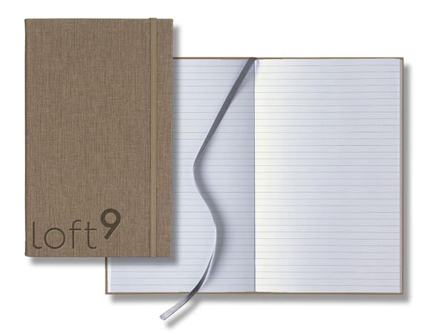 Medium Banded Linen Journal