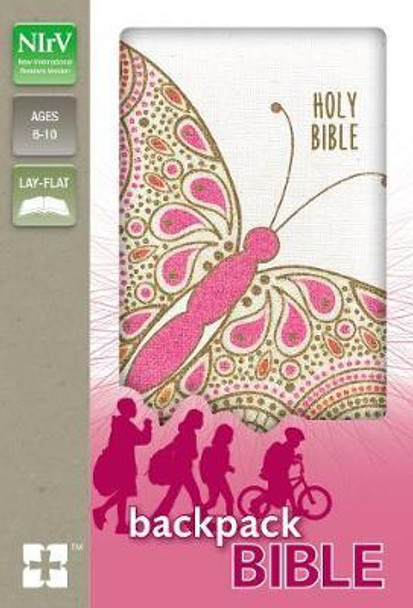 NIRV Backpack Bible, Flexcover, Pink Butterfly Cover