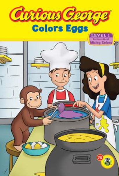 Curious George Colors Eggs Cover
