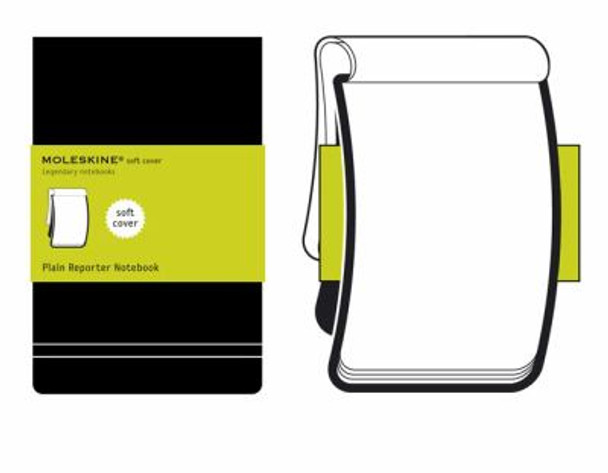 Moleskine Plain Soft Reporter Notebook Pocket Cover
