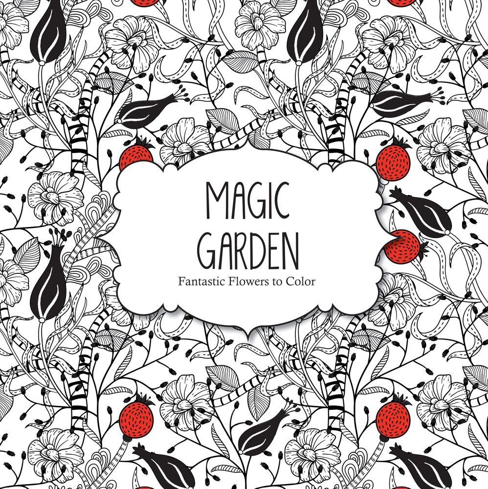 magic garden adult coloring books in bulk